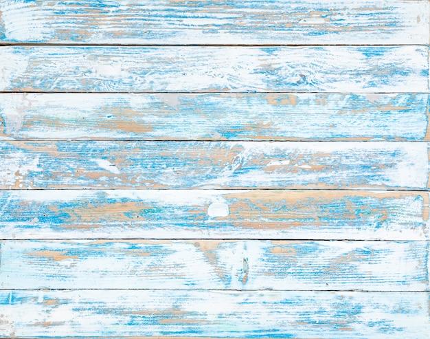 A textura de madeira antiga azul com padrões naturais