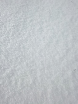 A textura de neve pura e branca com pequenas folhas de grama