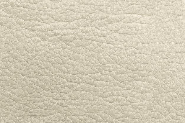 A textura do couro bege genuíno