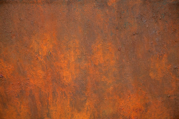 A textura do metal enferrujado é marrom e laranja.
