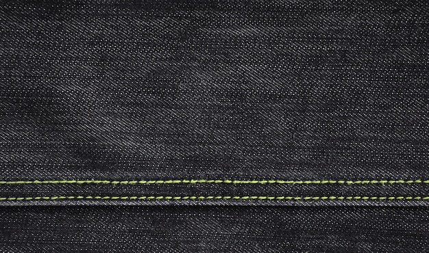 A textura do pano denim preto
