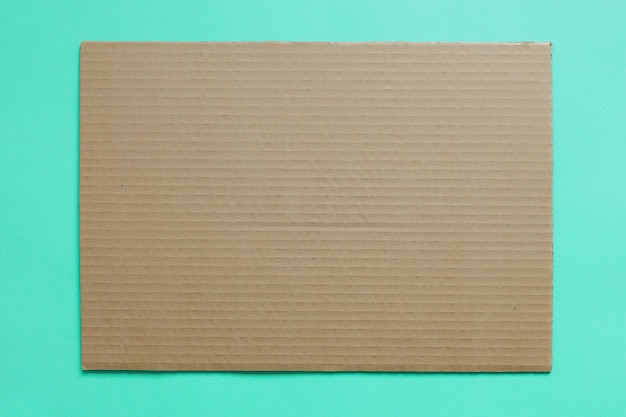 A textura do papelão é como o fundo do design