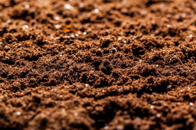 A textura do solo da macro