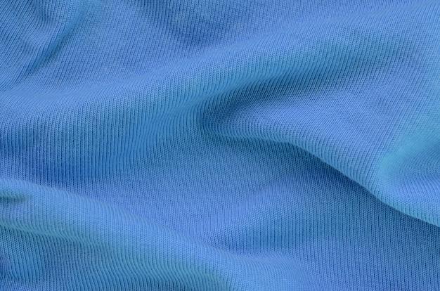 A textura do tecido em azul