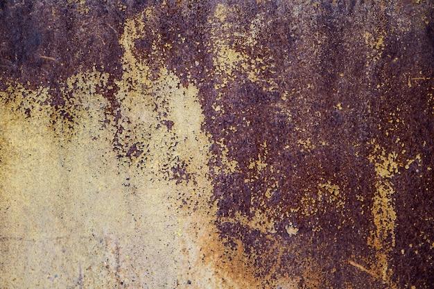 A textura do velho metal enferrujado
