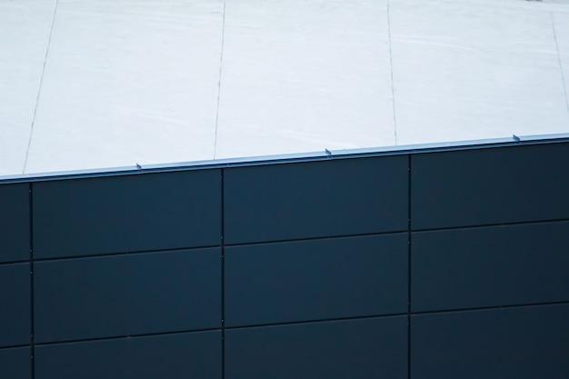 A textura dos painéis de plástico na construção