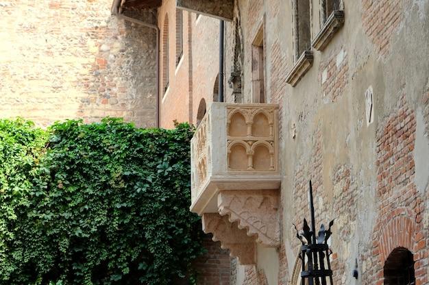 A varanda romântica de roma e julieta
