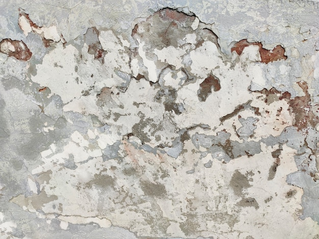 A velha parede rachada é bege e cinza. plano de fundo da moda grunge.