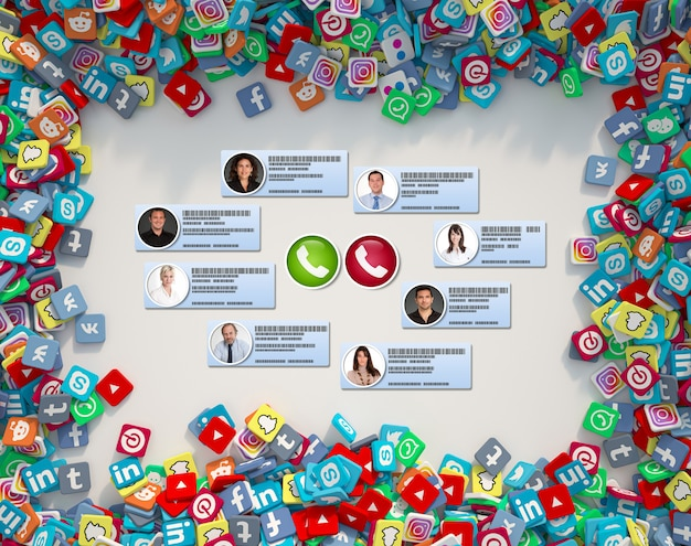 A videoconferência ocorre em um plano de mídia social