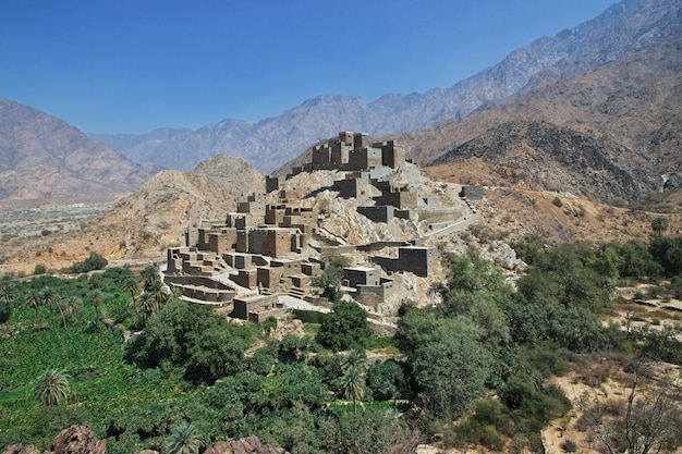 A vila histórica de al ain, arábia saudita