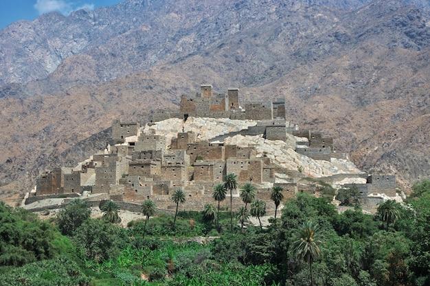 A vila histórica de al ain na arábia saudita