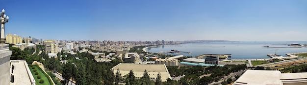 A vista da cidade de baku no azerbaijão