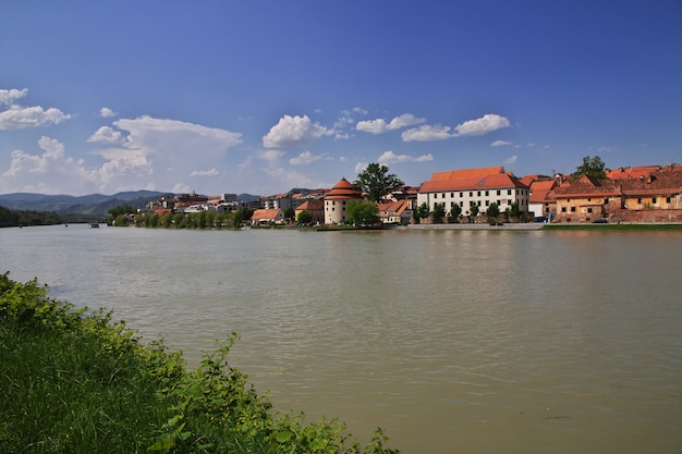 A vista da quaresma, o centro mais antigo de maribor, eslovênia