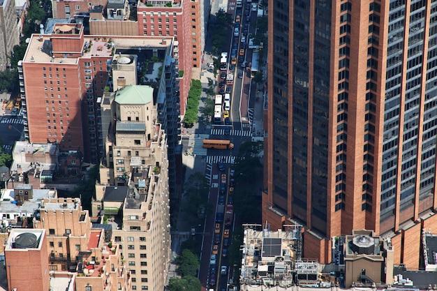 A vista do empire state building em nova york