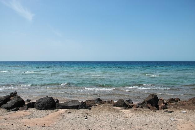 A vista do mar vermelho, arábia saudita