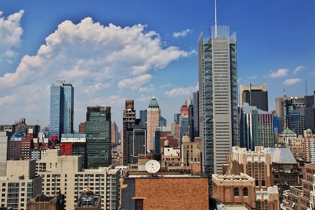 A vista na cidade de nova york dos estados unidos
