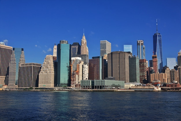 A vista no centro da cidade, nova york, estados unidos