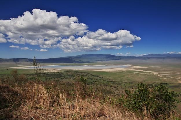 A vista no parque nacional de ngorongoro, tanzânia