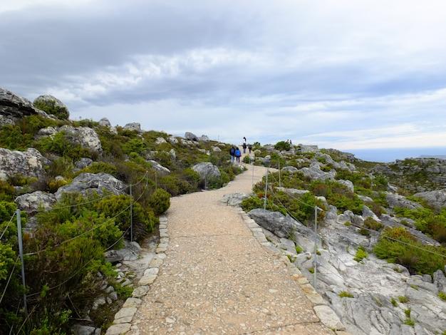 A vista no topo da table mountain, cidade do cabo, áfrica do sul