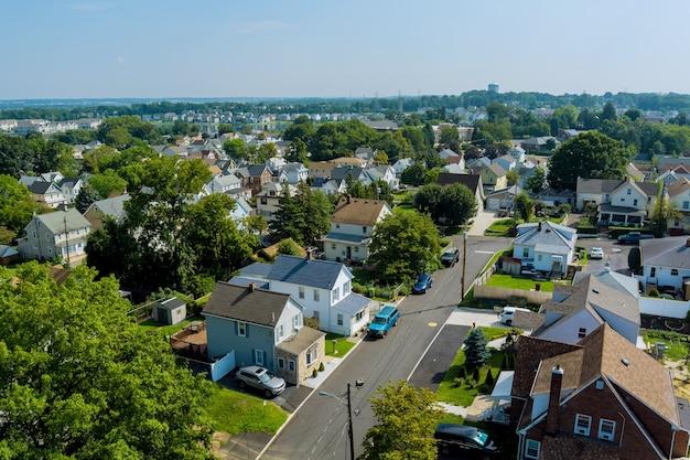 A vista panorâmica aérea da cidade de sayreville nj é uma pequena cidade nos eua