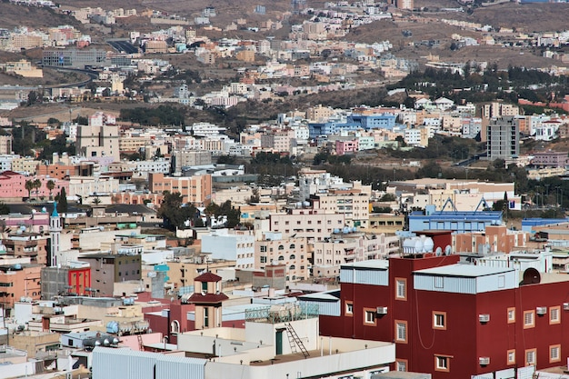 A vista panorâmica da cidade de abha, arábia saudita