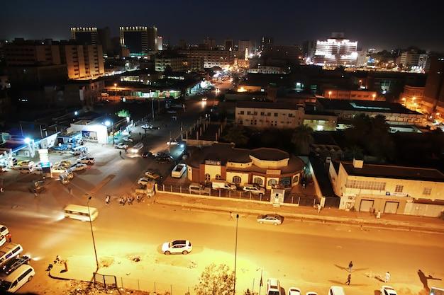 A vista sobre a cidade velha de cartum, sudão
