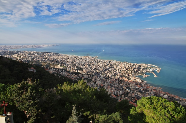 A vista sobre jounieh, líbano