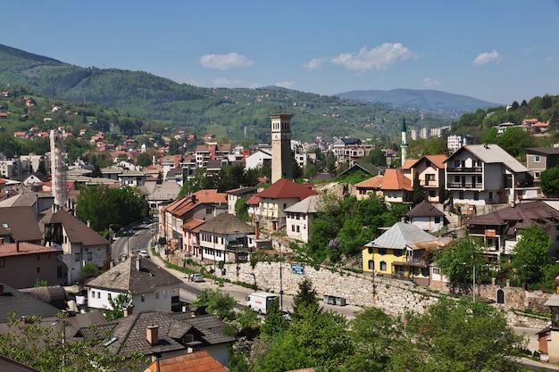 A vista sobre travnik, bósnia e herzegovina