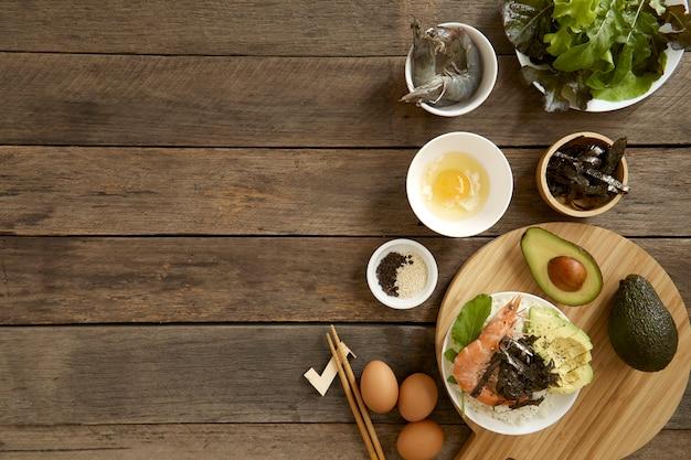 Abacate havaí comida puxão tigela cozinha