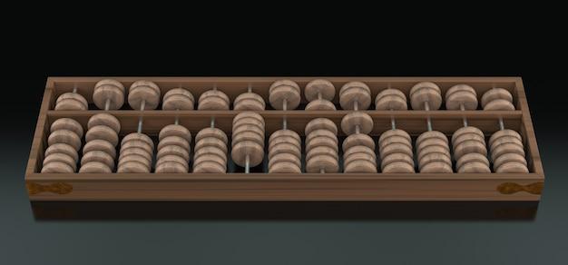 Ábaco. renderização 3d