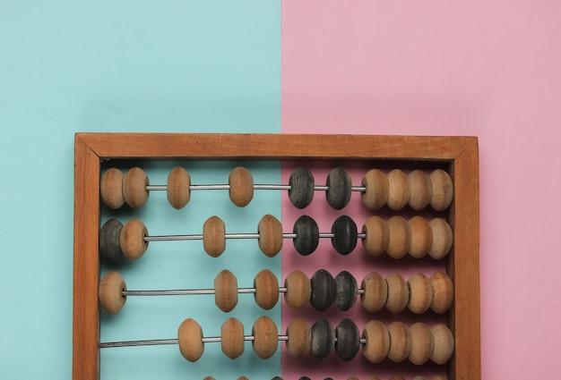 Ábaco retrô em papel de cor pastel