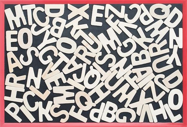 Abc no blackbroad como uma composição de fundo