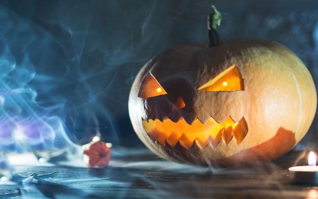 Abóbora de halloween assustadora