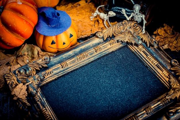 Abóbora de halloween com moldura