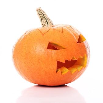 Abóbora de halloween com raiva