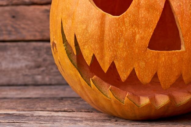 Abóbora de halloween do mal.