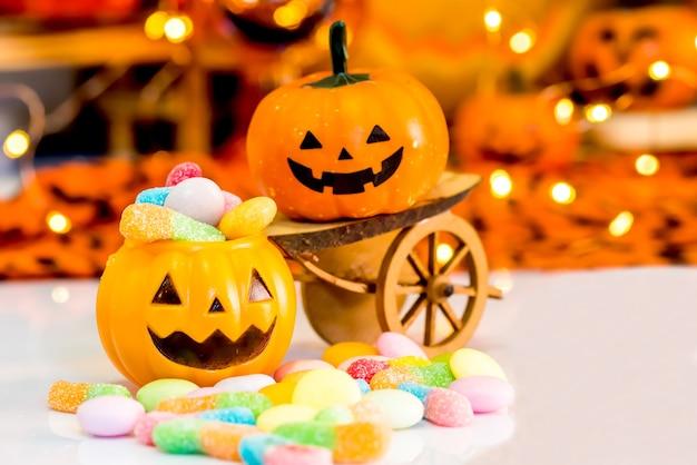 Abóbora de halloween, doce ou doce