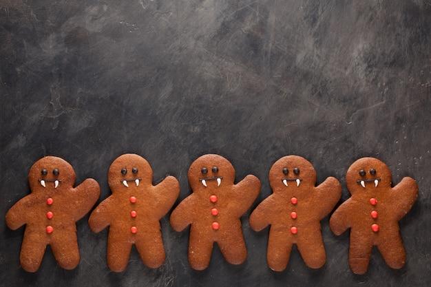 Abóbora de halloween e morcegos cookies.