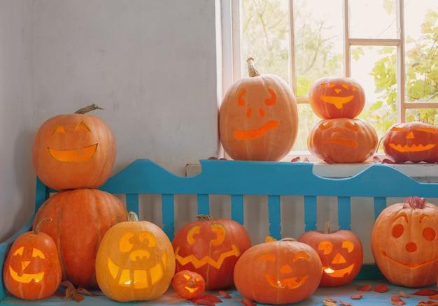 Abóbora de halloween para ambiente interno