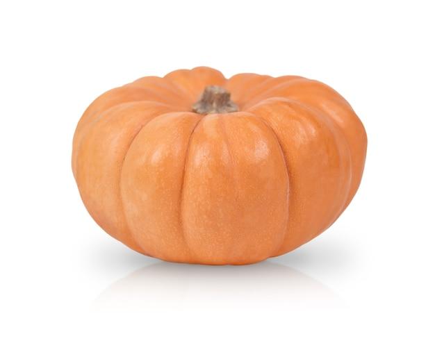 Abóbora laranja isolada em um fundo branco