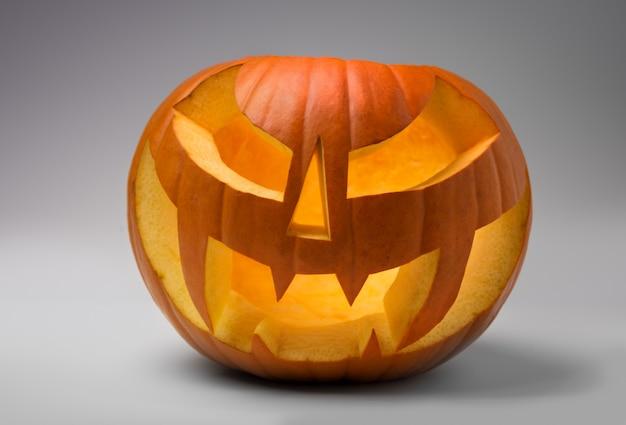 Abóbora laranja oca de jack o'lantern halloween