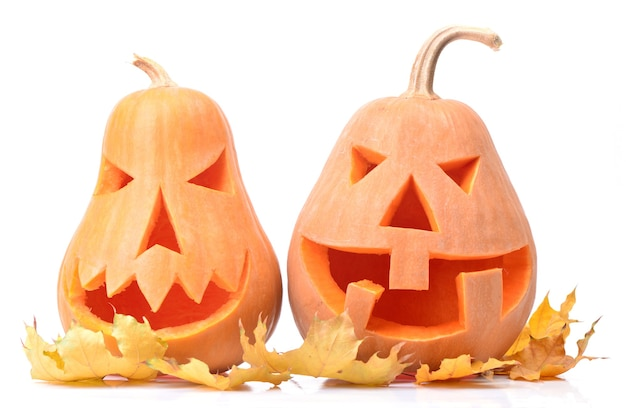Abóboras de halloween isoladas