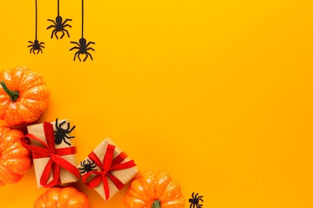 Abóboras decorativas de festa de halloween