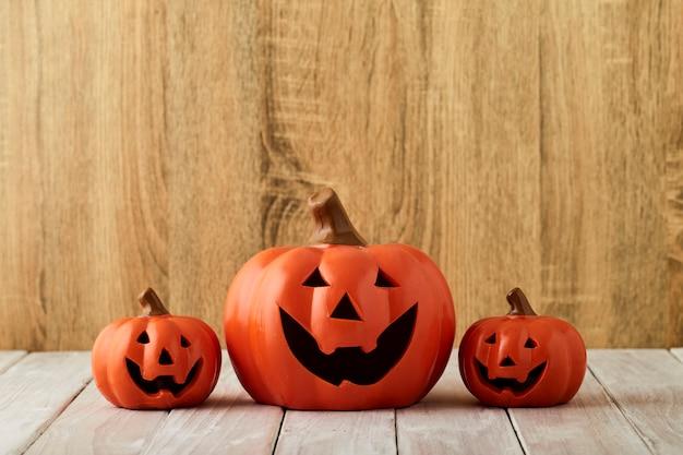 Abóboras na mesa halloween