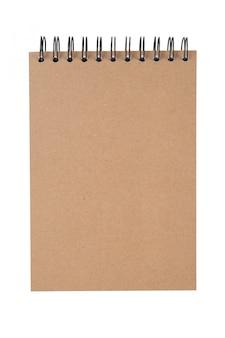 Abra caderno isolado