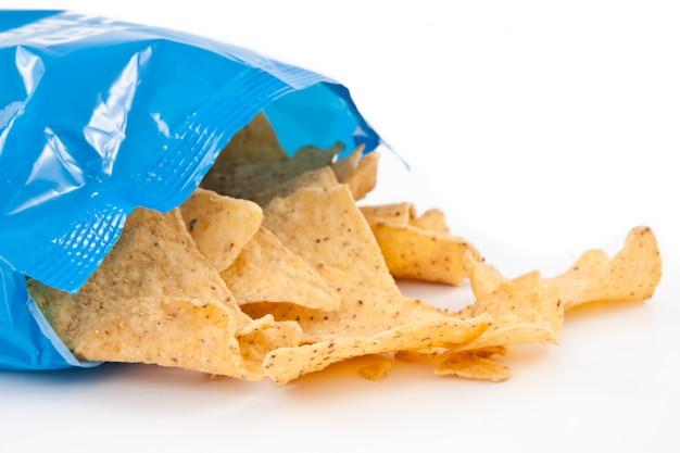 Abra o saco com tacos caídos
