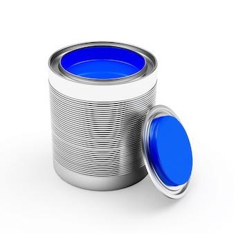 Abra um banco com tinta azul