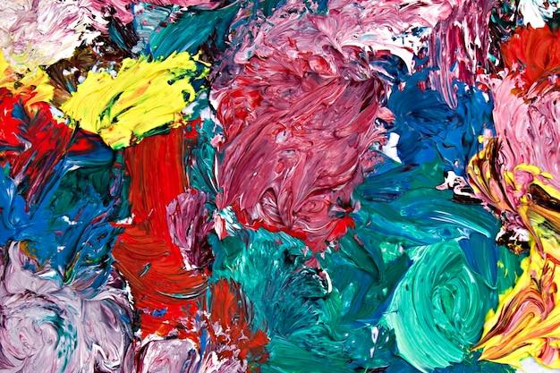 Abstração de fundo com tintas a óleo de cores diferentes