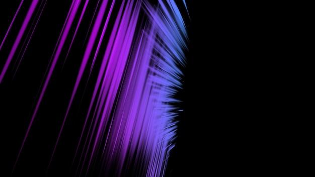 Abstração de néon raios roxos em um fundo preto protetor de tela futurista