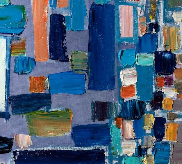 Abstração pintura a óleo arte simples